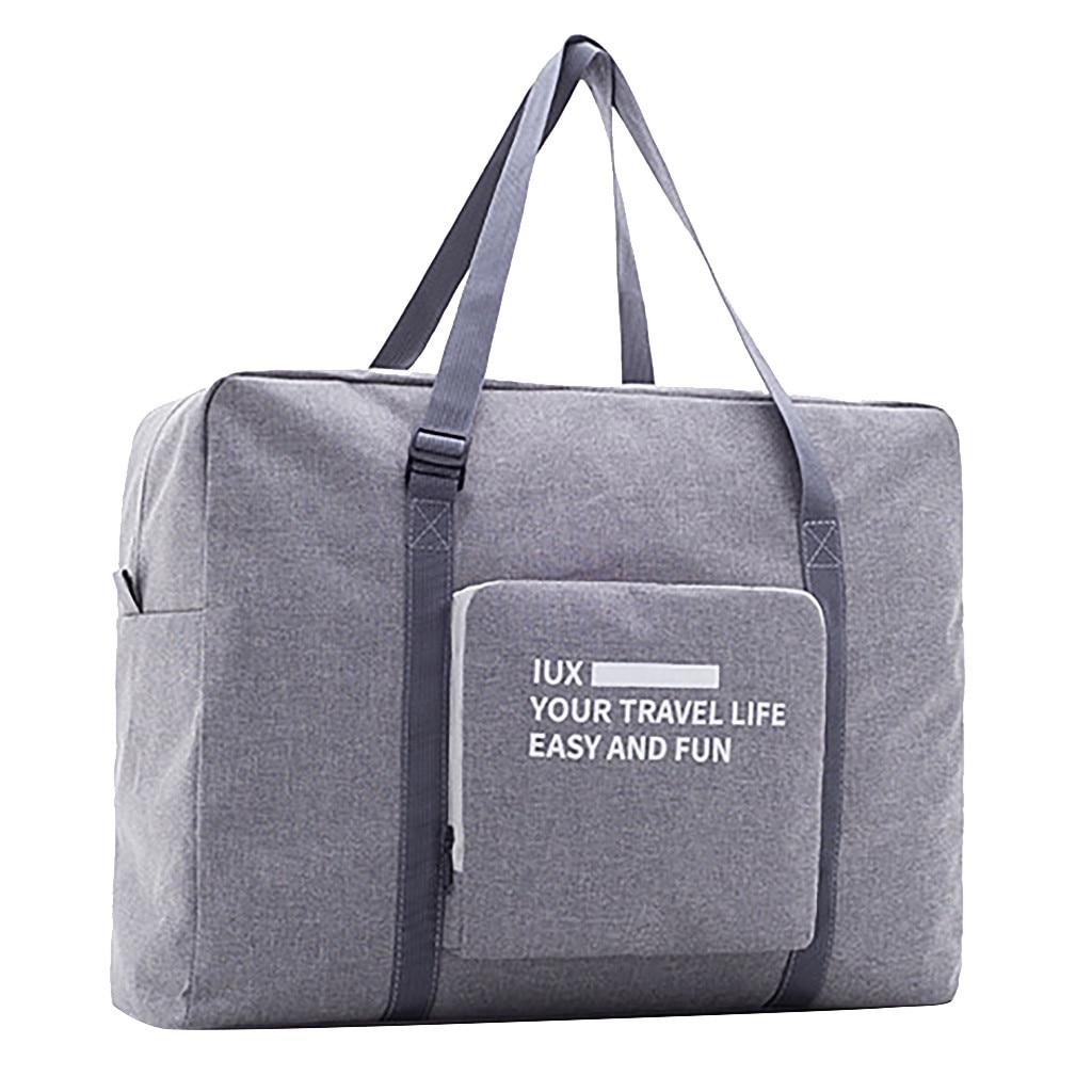 Bolsos de viaje para hombre, bolsa de viaje plegable de nailon impermeable, bolsa de gran capacidad, bolsas de viaje, bolsos de mano portátiles para mujer # G1