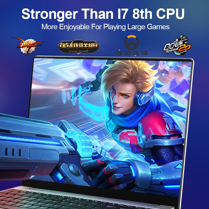 15.6 inch Gaming Laptop Intel Core i7-6560U 8G/16G RAM 1TB/128G/256G/512G SSD Notebook Computer Laptop IPS Display Ultrabook