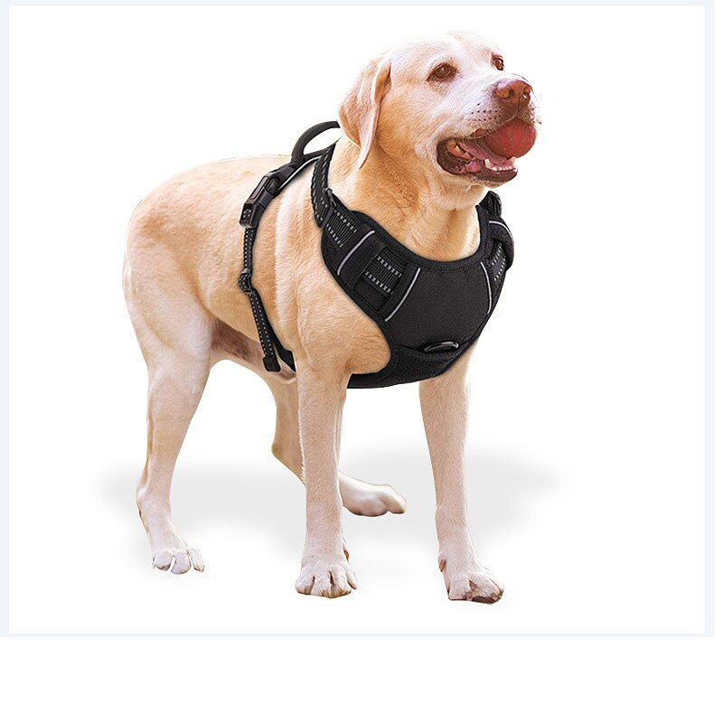 Arnés para perros ajustable de Nylon sin tirones al aire libre chaleco estilo Oxford reflectante Collar de mascota accesorios para perro pequeño mediano grande