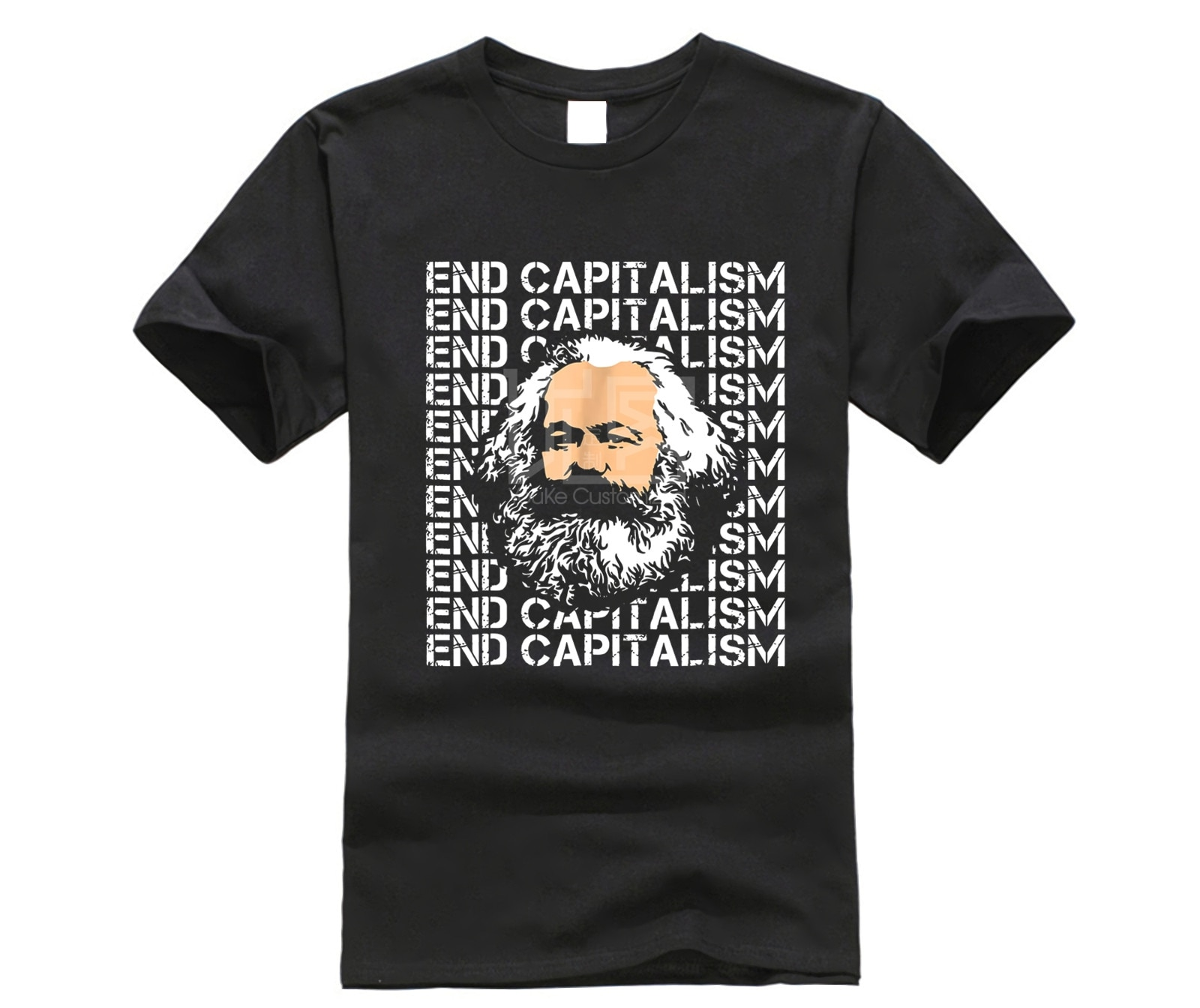 Camisa masculina karl marx final capitalismo socialista esquerdista engraçado t camisa