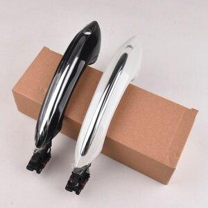 Black car Exterior Comfort Access door handle for BMW 5 7 series F01 F02 F06 F10 520d 520i 525d 528i 530d 530i