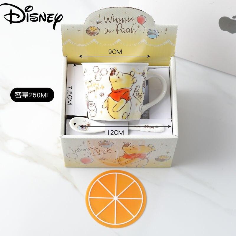 Керамическая чашка Disney с мультяшным анимационным принтом, простая большая емкость, чашка для воды, чашка для завтрака, кофейная чашка, колле...