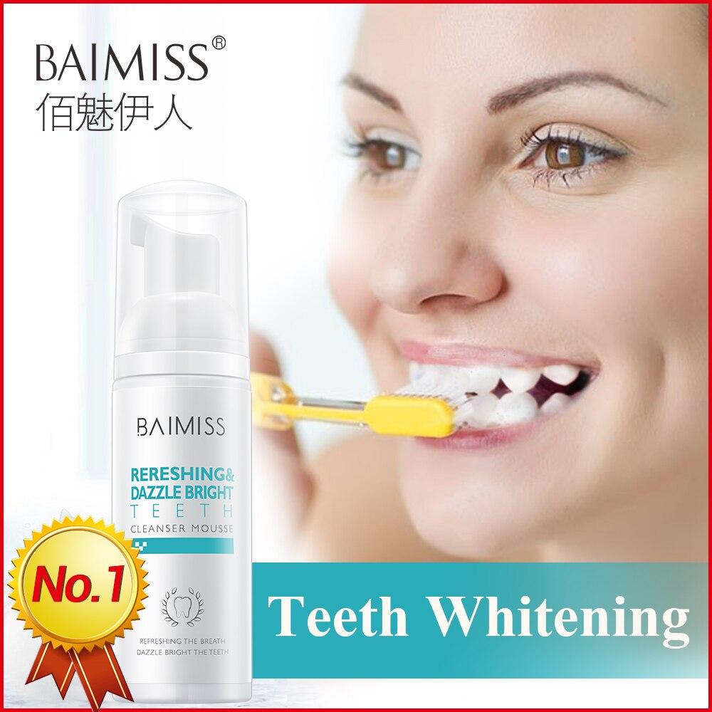 Hierbas para la Limpieza de dientes, Mousse blanqueadora, pasta de dientes fresca brillante, higiene Oral, elimina las manchas de placa, mal aliento, herramienta Dental