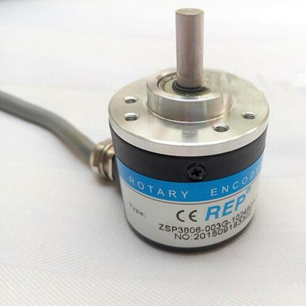 new el58b1024z5 28n10x3ma eltra rotary encoder 6mm solid shaft 1204 pulse npn interface incremental encoder ZSP3806 series 1024ppr 2000ppr  TTL output 5~24VDC  6mm solid shaft Incremental Rotary Encoder Original