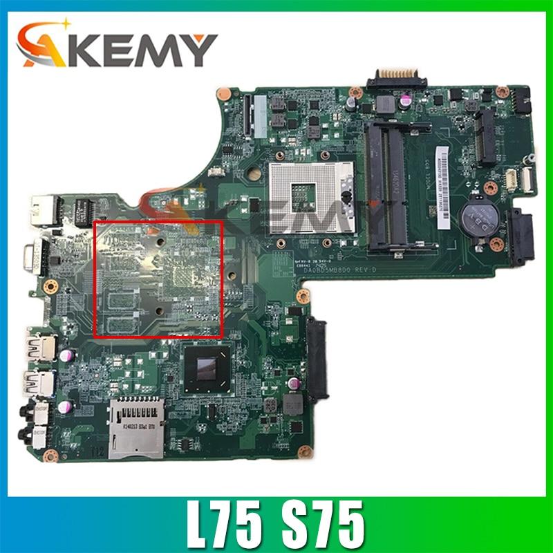 AKEMY A000243940 DA0BD5MB8D0 اللوحة الأم للكمبيوتر المحمول توشيبا الأقمار الصناعية L75 S75 HM77 UMA DDR3 اللوحة الرئيسية اختبار كامل