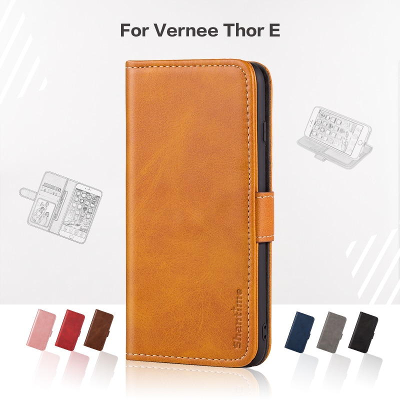 Funda abatible para Vernee Thor E Business, Funda de cuero de lujo con cartera magnética, funda para teléfono Vernee Thor E