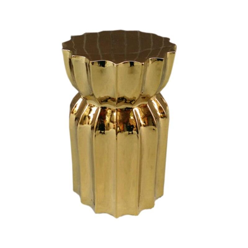 جديد الذهب اللون السيراميك البراز غرفة المعيشة مركز تسوق فندق ديلوكس الفن البراز