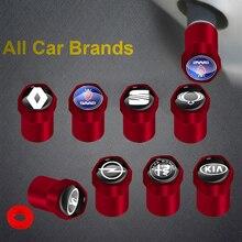 4 pièces nouveau rouge métal roue de voiture pneu Valve bouchons accessoires pour SEAT ibiza 6j 6l fr Ateca Altea xl leon 2 Leon Alhambra Auto marchandises