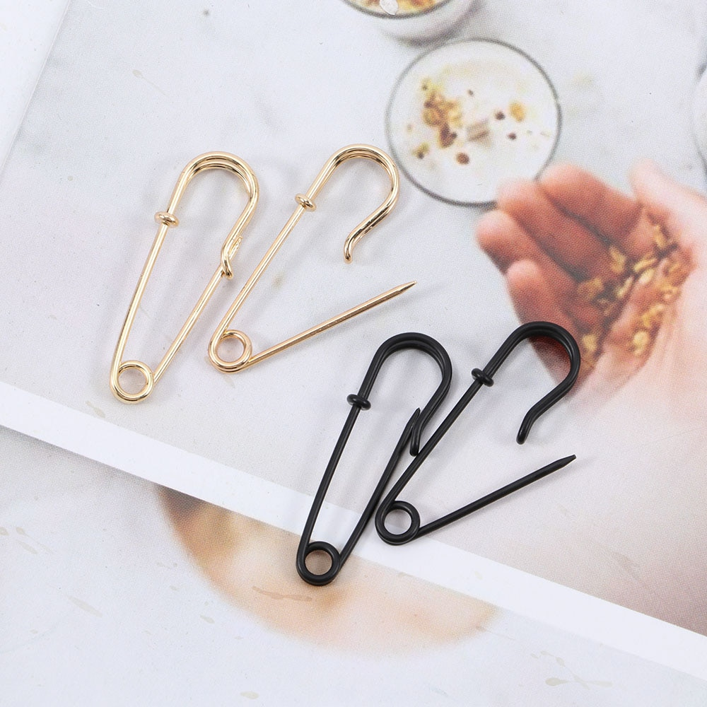 Diseño único de imitación de la perla clip de seguridad Pin pendiente para las mujeres las niñas oro cuerpo punk Piercing pendientes Accesorios