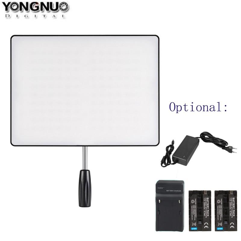 YONGNUO YN600 الهواء YN600 رقيقة جدا كاميرا ليد الفيديو الضوئي 3200K-5500K ، اختياري شاحن 2 قطعة بطارية محول التيار المتردد