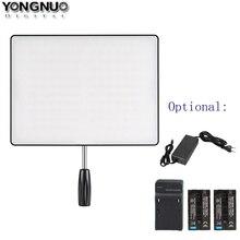 Светодиодная лампа для видеосъемки YONGNUO YN600 воздуха YN600 ультра тонкий светодиодный Камера видео светильник 3200K 5500K, опционально Зарядное устройство + 2 шт Батарея + адаптер питания переменного тока