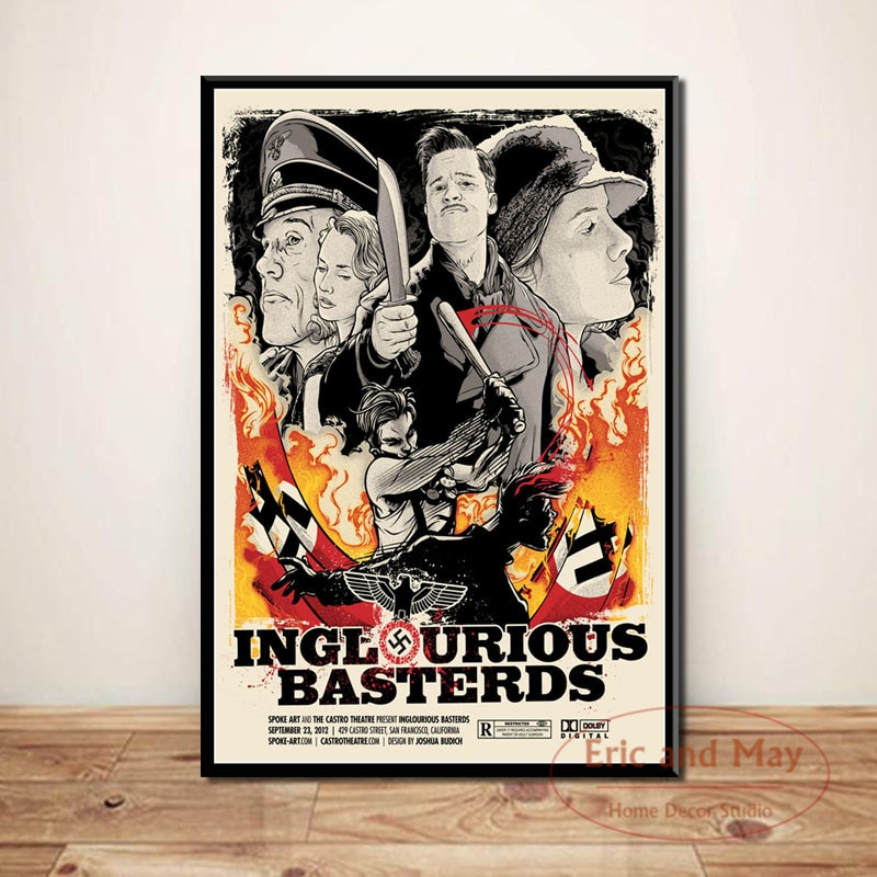 inglourious-basterds-quentin-tarantino-canvas-painting-posters-and-prints-pictures-on-the-wall-art-decorative-home-decor-cuadros