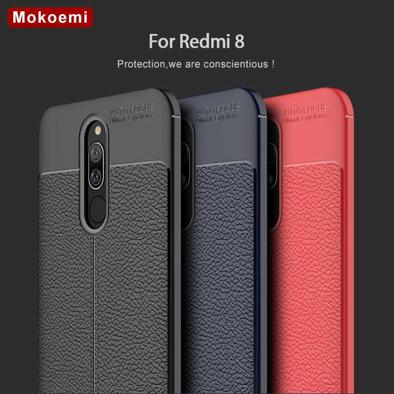 "Mokoemi Lichee patrón a prueba de golpes suave 6,2 ""para Xiaomi Redmi 8 funda para Xiaomi Redmi 8 funda para teléfono móvil"