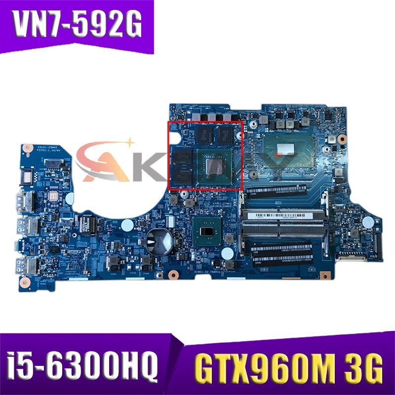 ل كمبيوتر محمول ايسر 15292-1 VN7-592G اللوحة 448.06B19.0011 NBG6J11006 i5-6300HQ GTX960M 3G DDR4 teste موافق اللوحة