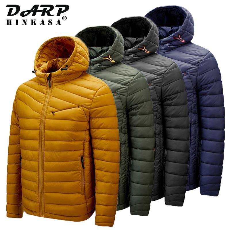 2021 New Casual Parka Jacket Men Hooded Solid Color Jacket Men Fashion High Quality Parka Coat Jacke