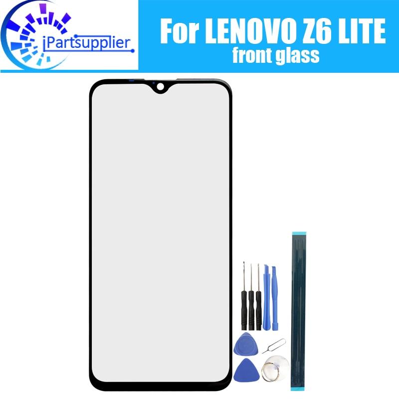 Lente de vidrio para pantalla frontal de LENOVO Z6 LITE, novedad de 100%, lente exterior de cristal con pantalla táctil frontal para LENOVO Z6 LITE + herramientas