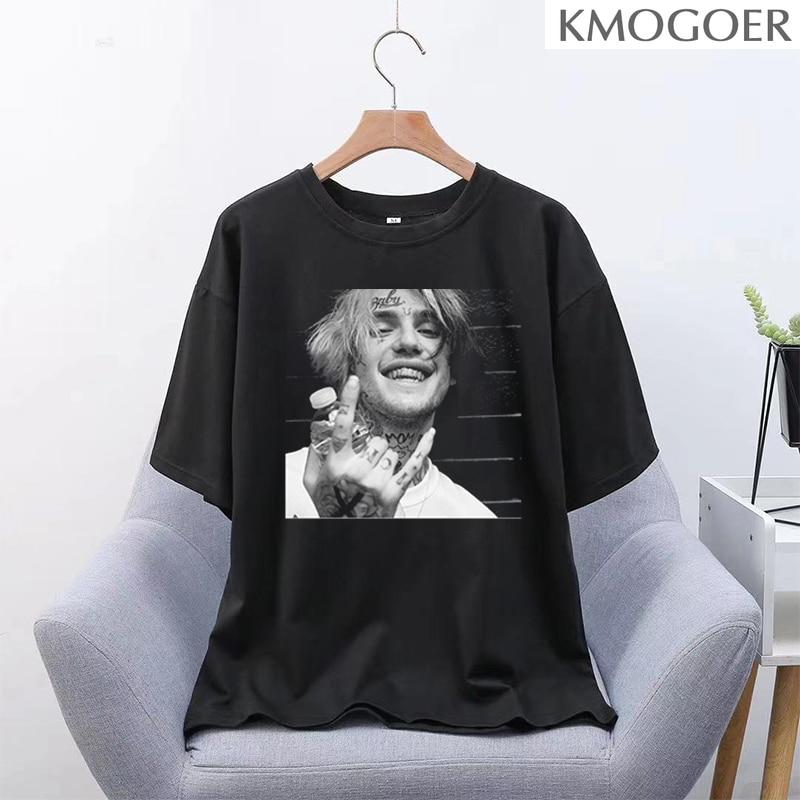 Lil peep gótico t-shirts soltas streetwear harajuku carta verão moda feminina manga curta casual vintage feminino preto