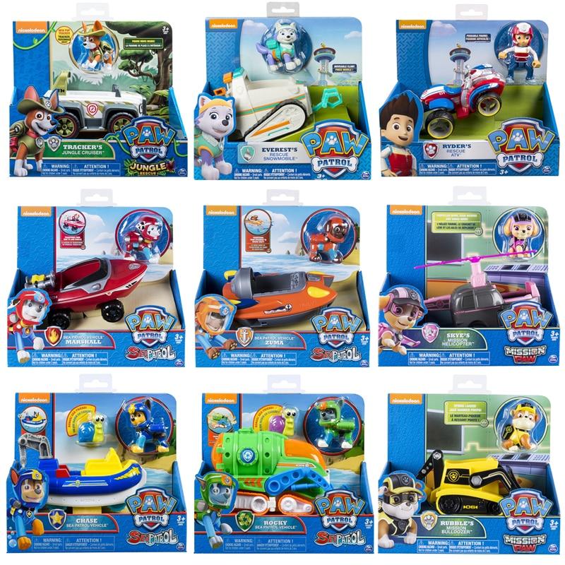 Подлинные с коробкой, Щенячий патруль, миссия, морские джунгли, Классические спасательные игрушки, набор транспортных средств, грузовик, иг...