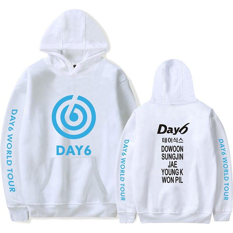 Caliente 2020 DAY6 gira mundial la gravedad sudaderas con capucha de los hombres/de las mujeres de moda Hip Hop Harajuku nuevo diseño DAY6 Tour Mundial de la gravedad de los hombres sudaderas con capucha