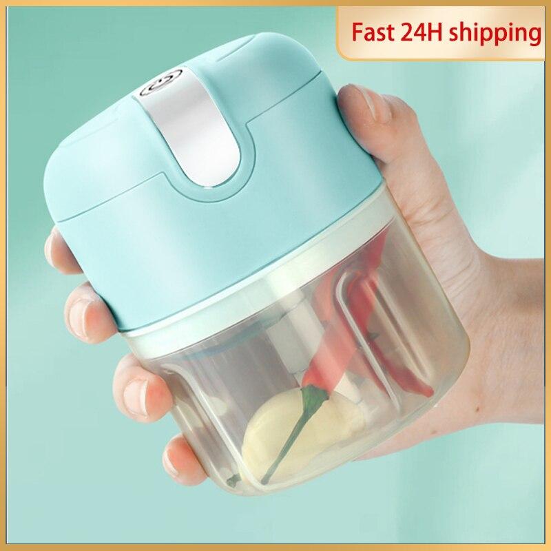 Мини-Мясорубка DTVANE 250 мл с функциями измельчение чеснока, овощей, заряжаемые Кухонные комбайны, миксер