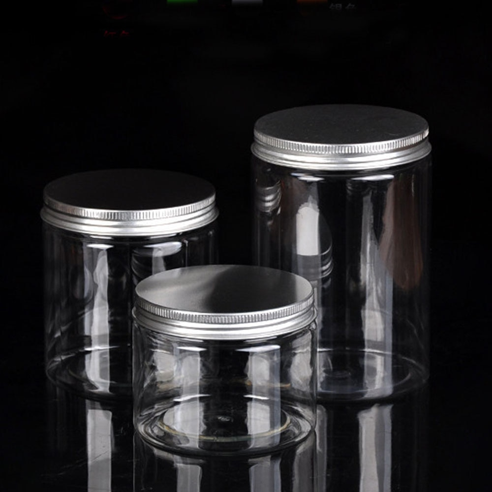 10 Size Clear Plastic Jar and Lids Empty Cosmetic Containers Travel Refillable Storage Bottle Househ