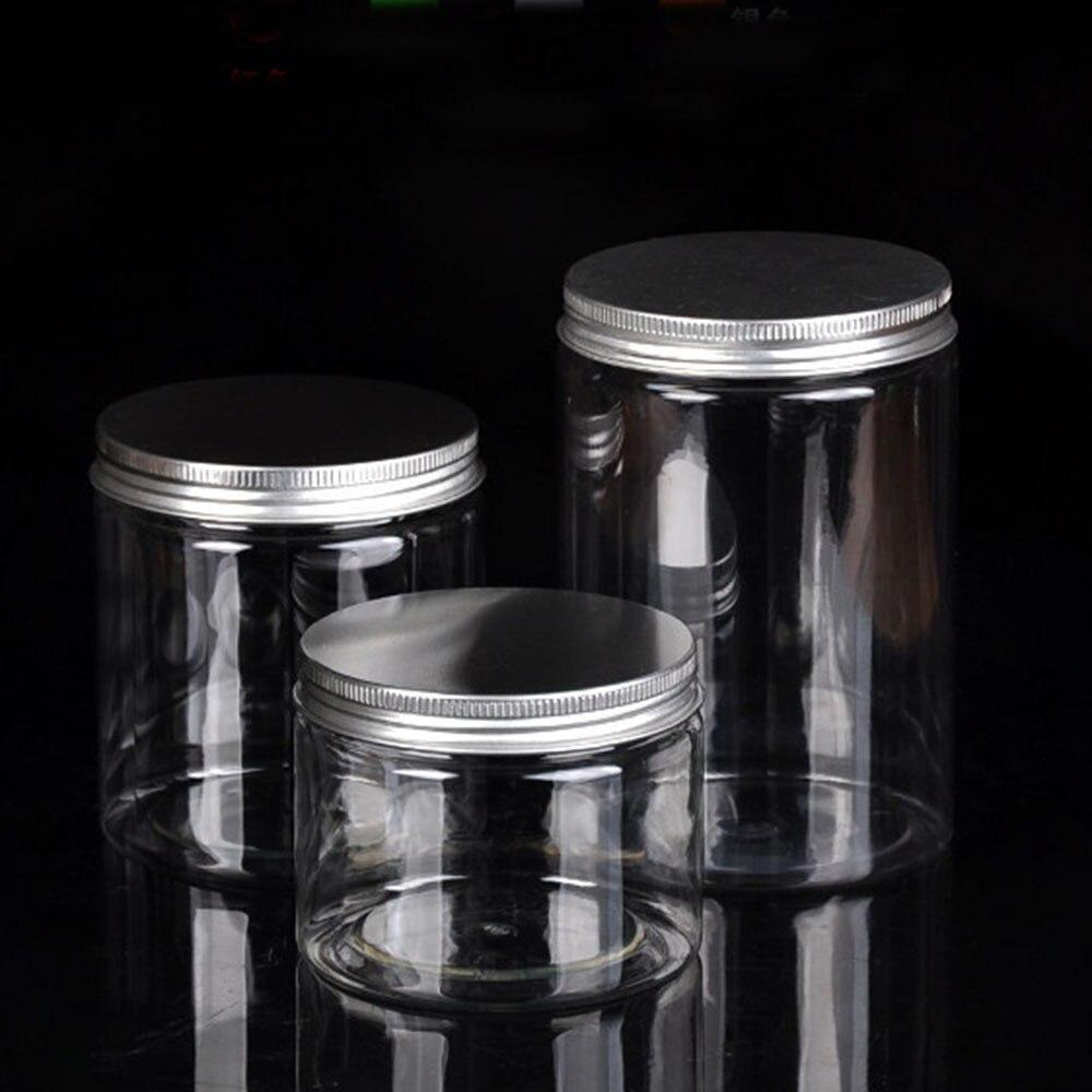 O frasco plástico claro e as tampas esvaziam a garrafa cosmética 30ml 40ml 50ml 60ml 80ml 100ml 120ml 200ml 250ml