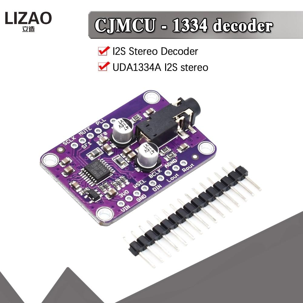 CJMCU-1334 DAC Module CJMCU-1334 UDA1334A I2S DAC Audio Stereo Decoder Module Board For Arduino 3.3V