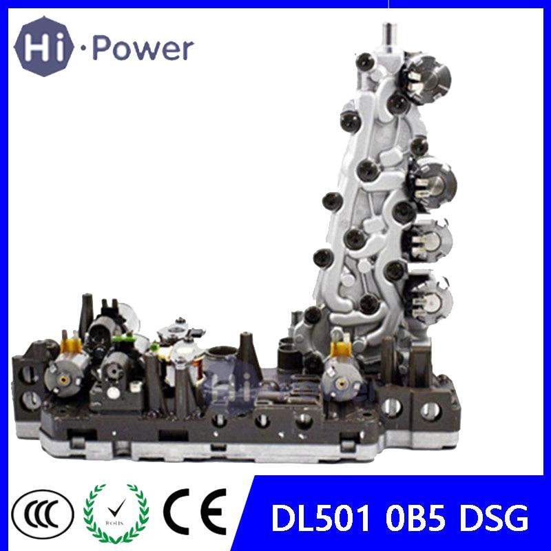 DL501 0B5 DSG Válvula de cambio automático de 7 velocidades caja de cuerpo de solenoide OEM para Audi A4 A5 A6 A7 Q5 reacondicionado