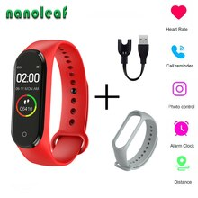 M4 Bluetooth Smart Watch Wristband Heart Rate Monitoring Fitness Tracker Smart Bracelet Control Camera Phone Music Mens Watches