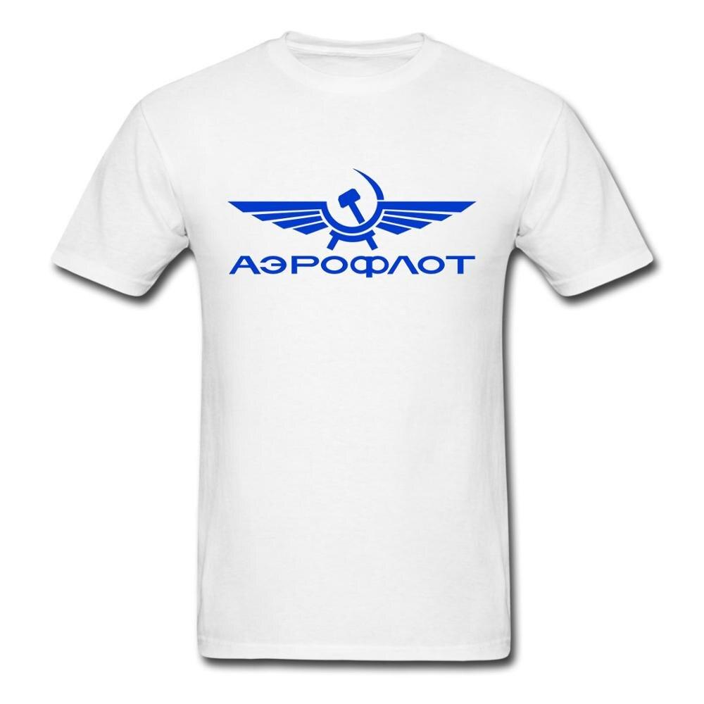 Аэрофлоt T Camisas Russa Aeroflot Airlines Impresso tee EUA tamanho