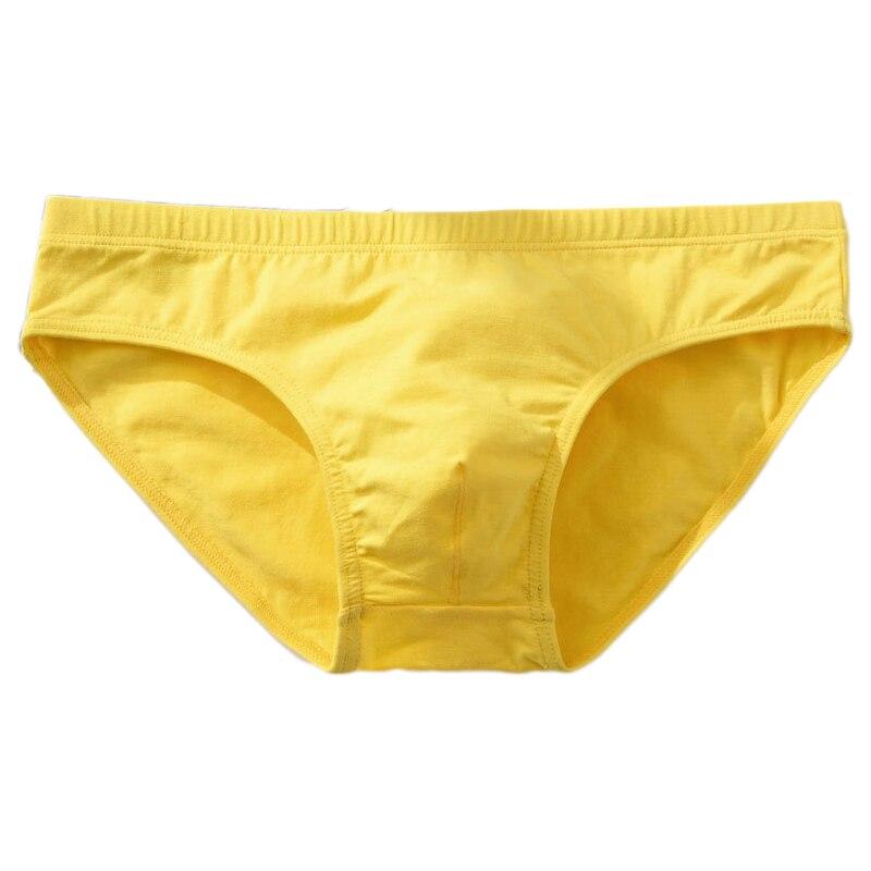 Brand Mens Underwear Briefs Sexy Cuecas Calzoncillos Hombre Slip Gay Men Sleepwear Breathable Cotton Solid Male Panties Shorts