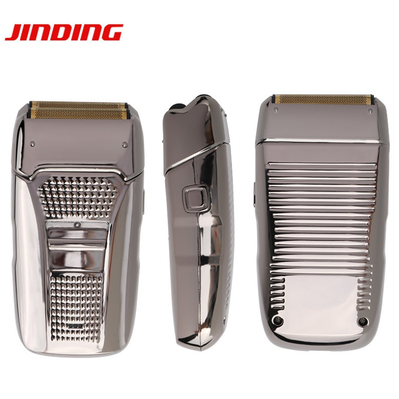 Electric Shaver for Men Razor Hair Removal Beard Trimmer Usb Cable Retro Reciprocating Double Cutter Head Electroplating Body 67 enlarge