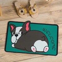 non slip dust removing door mats absorbent wear resistant washable multi cartoon pet patterns