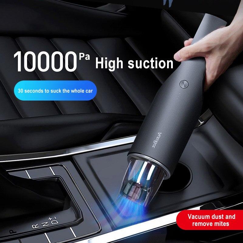Carro mini aspirador de pó à mão portátil sem fio recarregável 10000pa built-in duplo ventilador motor do carro aspirador de pó para casa
