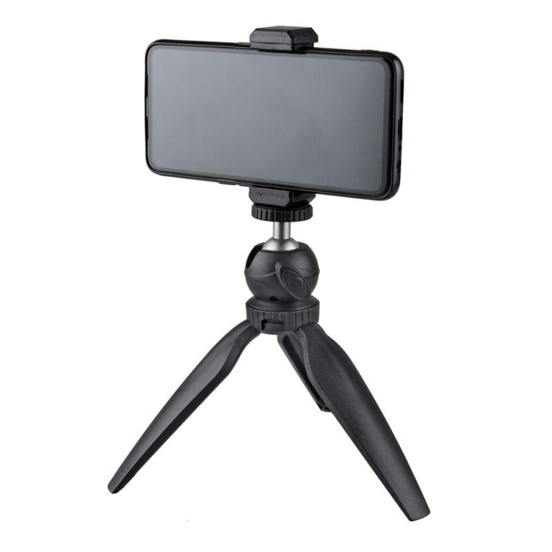 Mini trípode teléfono móvil de sobremesa Smartphone montaje Clip soporte desmontable Ballhead para iPhone 11 X/8/7 Huawei 4,5-6,5 pulgadas