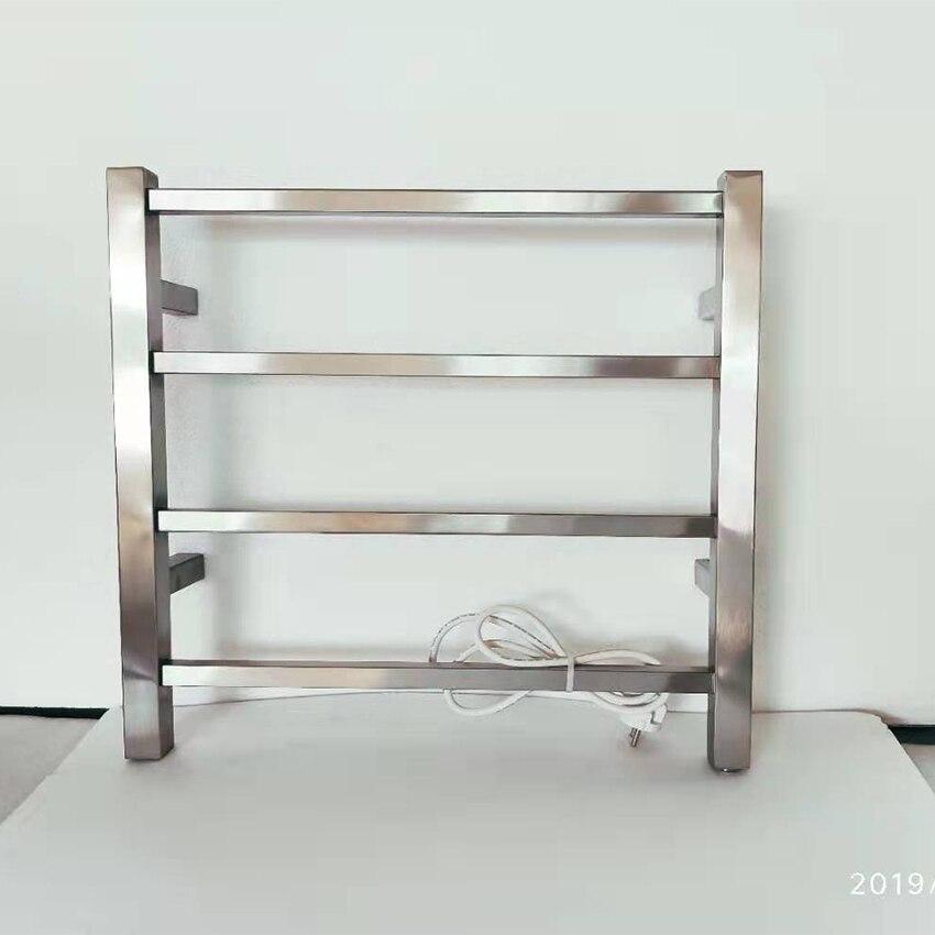 2020 nuevo pulido cepillado calentador de toallas eléctrico montado en la pared accesorio Toalla de baño ropa secadora TW-RT2