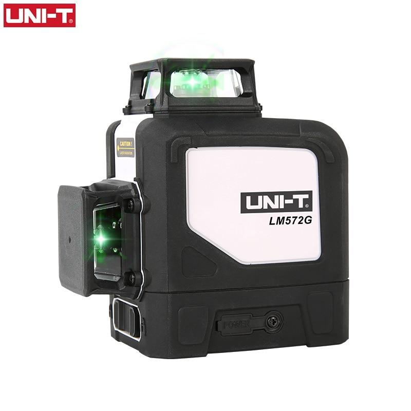 UNI-T LM572G/LM573G/LM573LD/LM580G 8 خطوط/12 خطوط 3D الأخضر الليزر مستوى 360 درجة أفقي عمودي الصليب الليزر متر فاحص