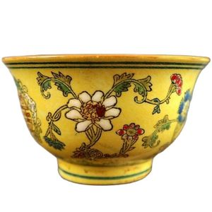 Chinese Old Porcelain Pastel Glaze Dragon Flower Map Chinese Food Bowl