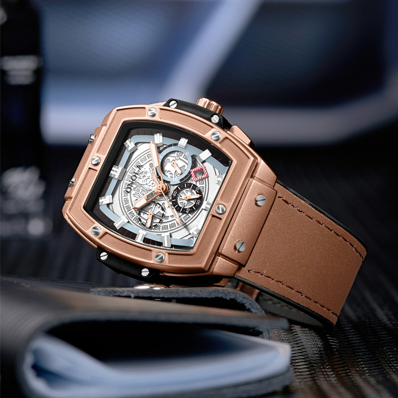 Luxury Sport watch for men ONOLA Fashion quartz clock big face wristwatch casual watches men relogio masculino enlarge