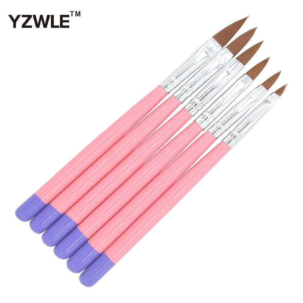 Juego de 6 unids/pack de pinceles para uñas, Gel acrílico UV, bolígrafo cepillo de uñas para arte de uñas, herramienta de manicura pedicura 30