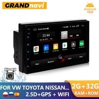 Автомагнитола GRANDnavi, мультимедийный проигрыватель на Android, с GPS, 2,5D сенсорным экраном, для Toyota, Nissan, Hyundai, типоразмер 2DIN