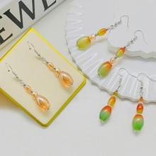 Luxury Peacock Agate Dangle Earrings for Wedding Handmade Jewelry Wedding Natural Stone Statement Ea