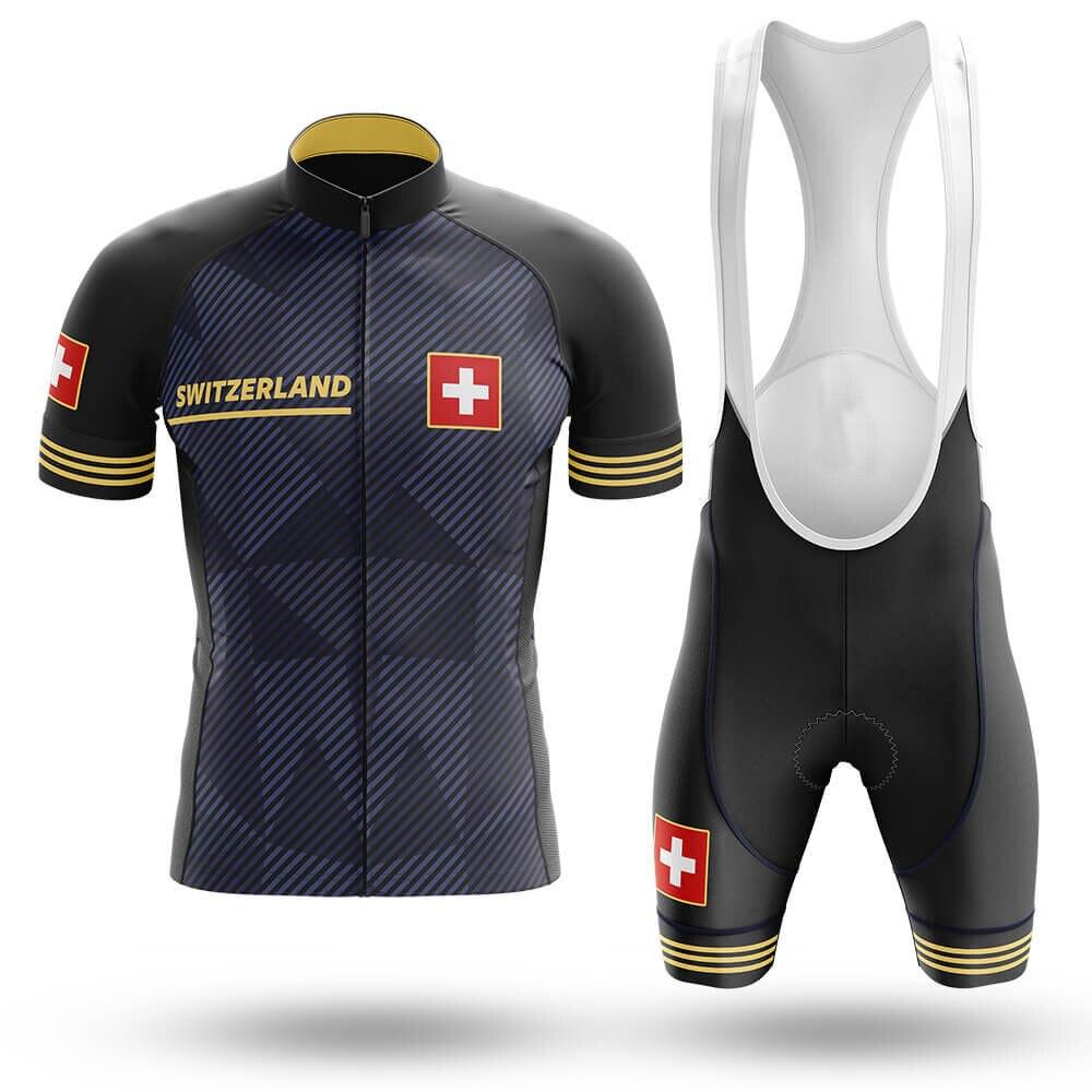 Conjunto de camisetas de Ciclismo de Suiza para hombre, pantalones cortos, Maillot