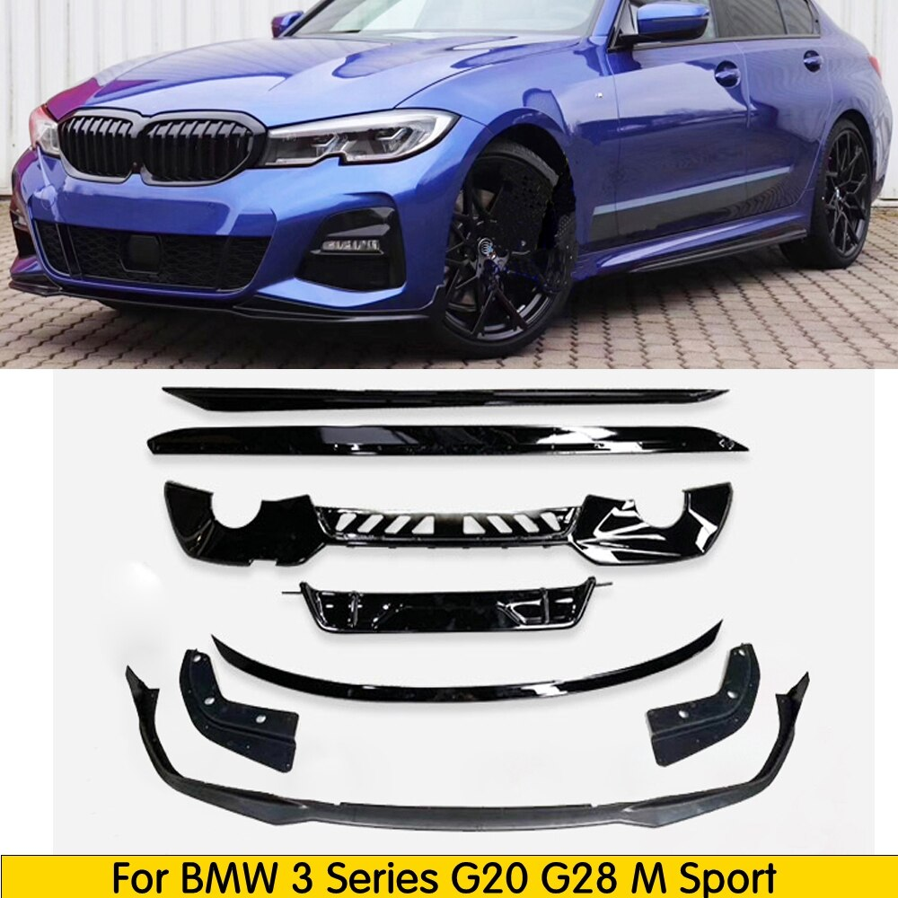 Kit de carrocería G20, alerón delantero, falda lateral para BMW 3 Series G21 M, parachoques deportivo 320d 330i 340i 2019 +