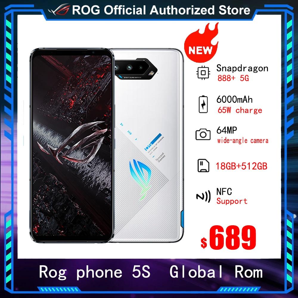 Global Rom ASUS ROG Phone 5S Pro 5G Gaming Smartphone 18GB 512GB Snapdragon 888 Plus 6000mAh 65W Fast charging