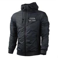 cusom logo autumn winter men jacket windbreak patchwork tracksuit coat fitness running climbing casual sportwear men clothing