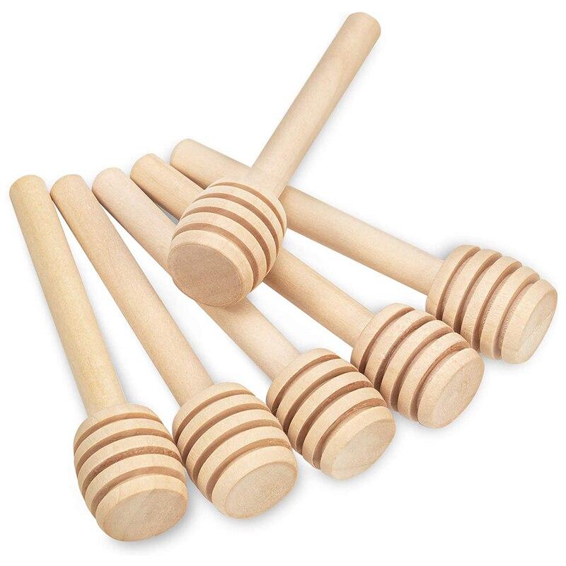 70 paquets de Mini bâtonnets de miel en bois de 3 pouces, bâtonnets de miel dagitateur de miel pour la Distribution de Pot de miel