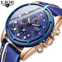 Relogio Masculino 2020 Fashion Watch Men Sport Quartz Clock Mens Watches LIGE Top Brand Luxury Leather Waterproof Business Watch