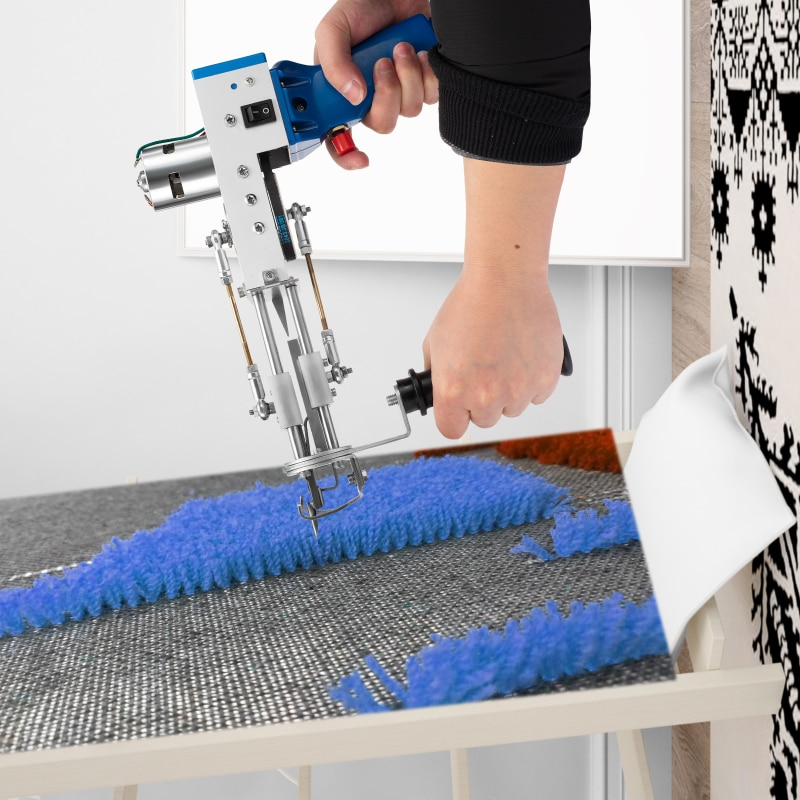 2021 New Electric Carpet Tufting Gun Hand Gun Carpet Rug Weaving Flocking Machines Loop Pile 110/220V Power Tool Accessories enlarge