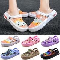 Airavata, сандалии с вырезами, женская пляжная обувь, камуфляжная Летняя Повседневная садовая обувь для мужчин и женщин